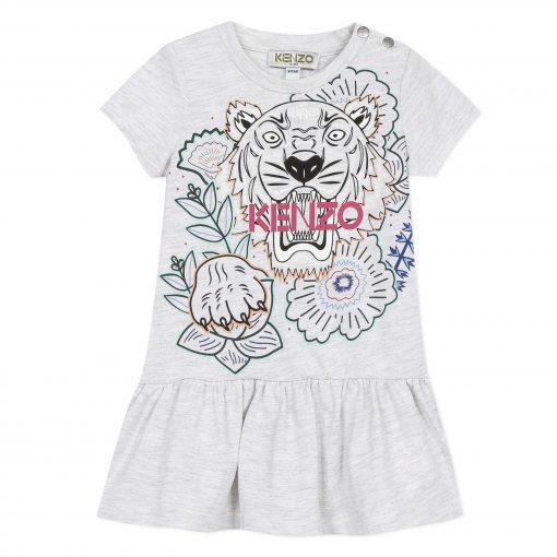 KQ30077-Kenzo-Kids-Girls-Grey-Tiger-Disco-Jungle-Dress-510×510
