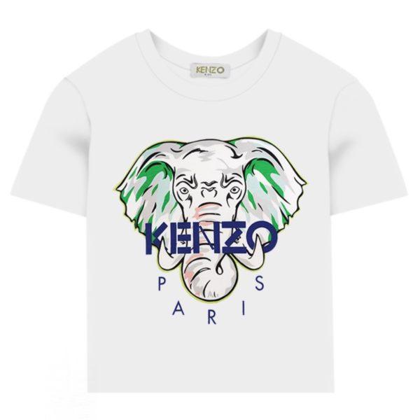 KQ10618-Kenzo-Kids-Boys-White-Disco-Jungle-Elephant-T-Shirt-2