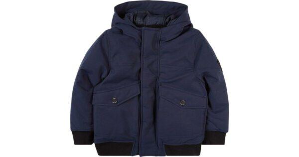 Boss-Branded-Badge-Hooded-Water-Repellent-Jacket-Navy-(J26452)