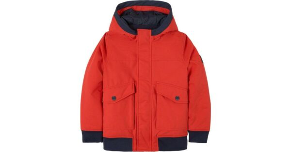 Boss-Branded-Badge-Hooded-Water-Repellent-Jacket-Red-(J26452)